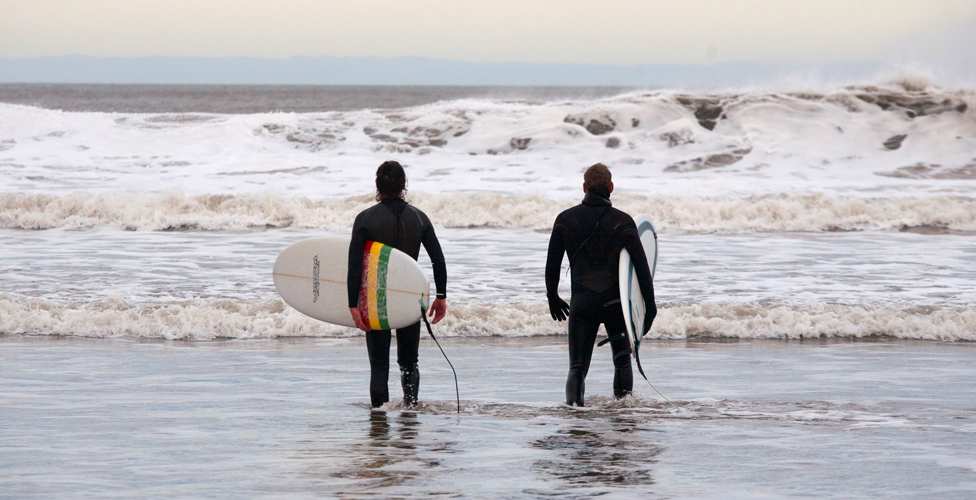 The Surfers Of Tynemouth Bbc News